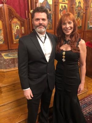 Knight Daniel Schmachtenberger and Dame Nicole Brandon